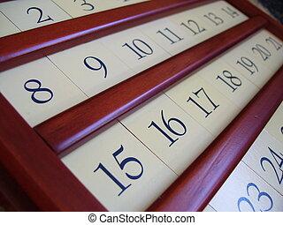 de madera, calendario