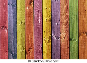 de madera, -, coloreado, textura, tablas
