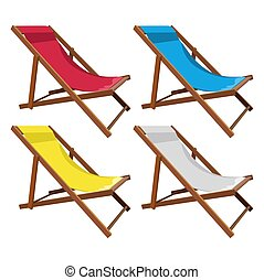 de madera, conjunto, salón, chaise