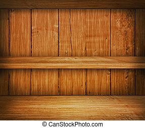 de madera, estante, roble, plano de fondo