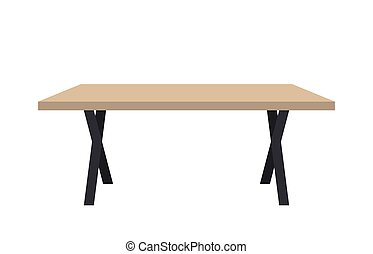 de madera, formado, rectangular, mesa., tabla