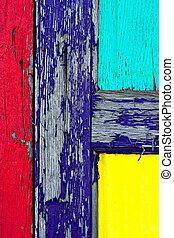 de madera, pintura, grunge, puerta