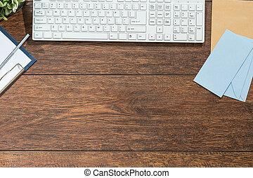 de madera, teclado, escritorio