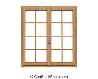 de madera, windows