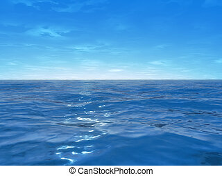 de par en par, océano