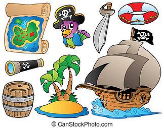 De varios objetos piratas