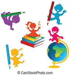 De vuelta a la escuela con niños y libros