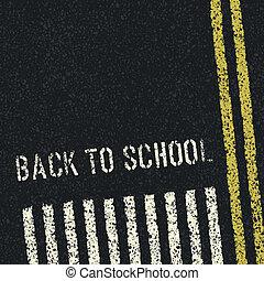 De vuelta a la escuela. Concepto de seguridad vial. Vector, EPS8