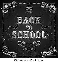 De vuelta a la escuela en pizarra