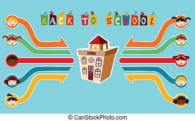 De vuelta a la red de niños de la escuela