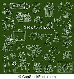 De vuelta a los garabatos de la escuela: elementos de diseño de vectores a mano