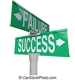 decidir, bueno, éxito, señalar, ser, bilateral, destino, señal, symbolizing, malo, calle, verde, fracaso, entre, encrucijada, o, resultado