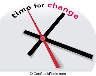 decir, manos, tiempo, cambio, reloj