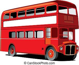 decker, doble, londres, autobús