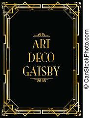 deco, arte, gatsby, plano de fondo