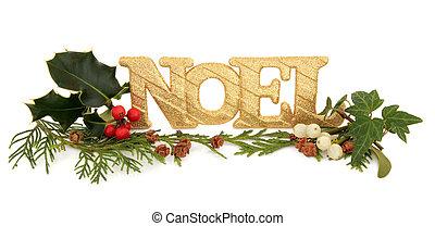 Decoración brillante de Noel
