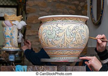 Decoración de cerámica