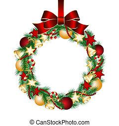 Decoración de coronas de Navidad