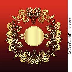 Decoración floral de oro