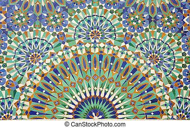 decoración, marruecos, casablanca, oriental, mosaico