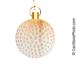 decoración, navidad, golfball