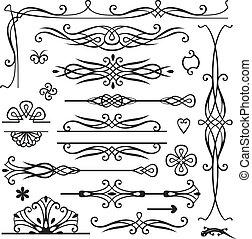 decoración, retro, página
