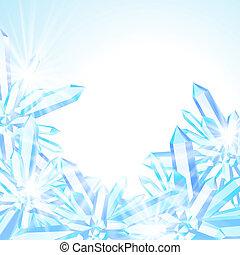 decoración, vector, invierno, tarjeta