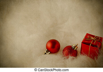 Decoraciones navideñas en piel blanca, vintage