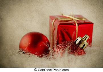 Decoraciones navideñas en pieles, vintage