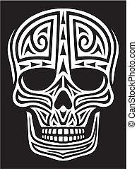 Decorado de cráneo (Tatuaje de zorrillo)
