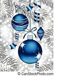 Decorados azules de Navidad