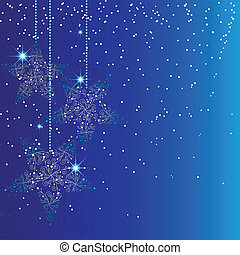 Decorados de estrellas de Navidad azules