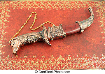 decorativo, cuchillo