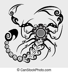 decorativo, escorpión
