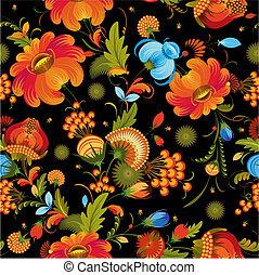 decorativo, flor, seamless, plano de fondo