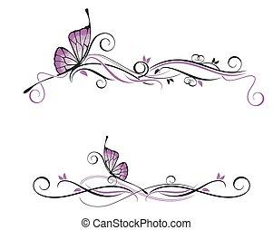 decorativo, vector, ornamento