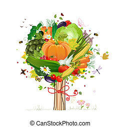 decorativo, vegetal, árbol