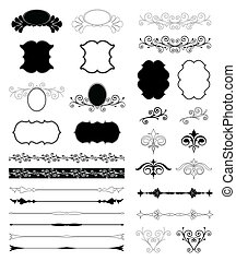 Decorativos diseño floral. Vector listo