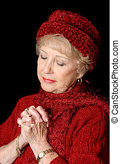 Dedicada señora mayor
