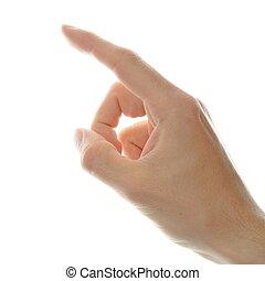dedo que señala, mano