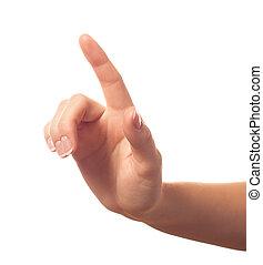 dedo, uno