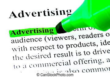 Definición de la publicidad resaltada