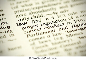 """Definición diccionaria de la palabra """"Law"""""""