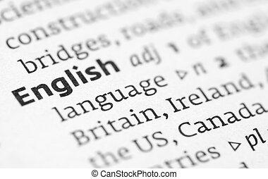 Definición inglesa en un diccionario