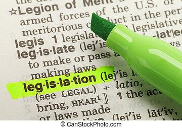 definición, legislación