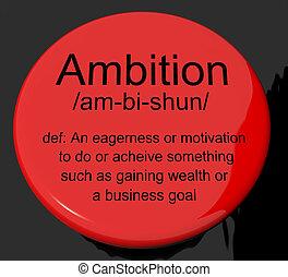 definición, motivación, botón, unidad, ambición, aspiraciones, exposiciones