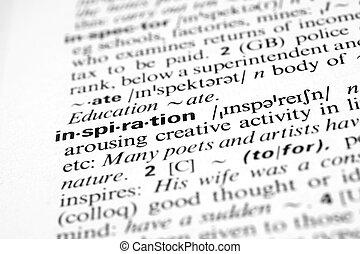 definición, palabra, diccionario, empresa / negocio, -, inspiración