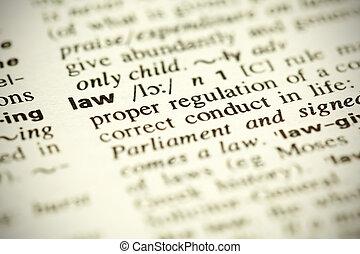 """definición, palabra, diccionario, """"law"""""""
