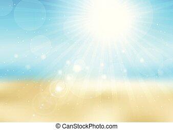 Defocada escena de la soleada playa 2707