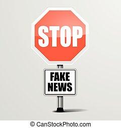 Deja las noticias falsas